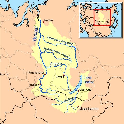 מפת נהר אוב. באדיבות ויקיפדיה