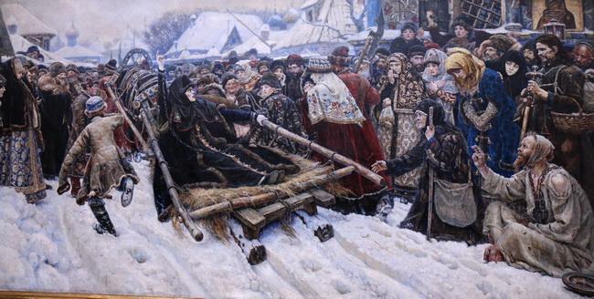 המאמינים הישנים מגורשים מסיביר במוזיאון הרוסי. צילום: גילי חסקין
