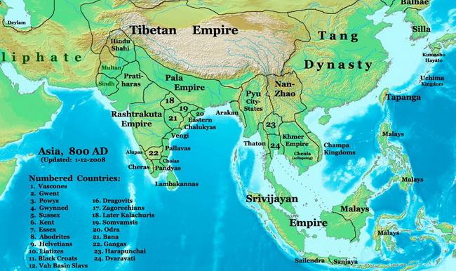 מפת האימפריה של הפלה. באדיבות wikipedia