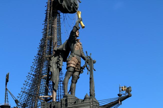 הפסל של פיוטר הגדול במוסקבה-צילום: גילי חסקין, יוני 2016