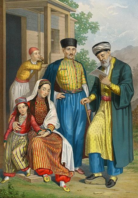 ציור עתיק של טטרים. באדיבות ויקיפדיה