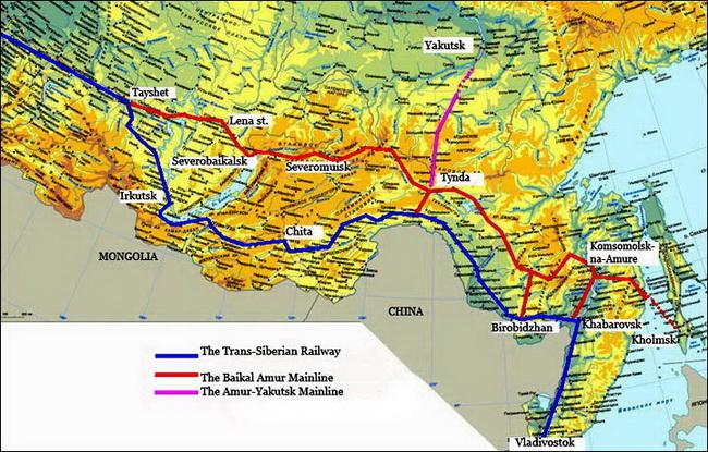 נתיב הרכבת הטראנס סיבירית