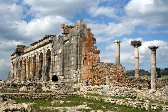 מקדש רומאי בוולופוליס (וולובוליס), על מיקומו של מקדש מלקרת. צילום: גילי חסקין